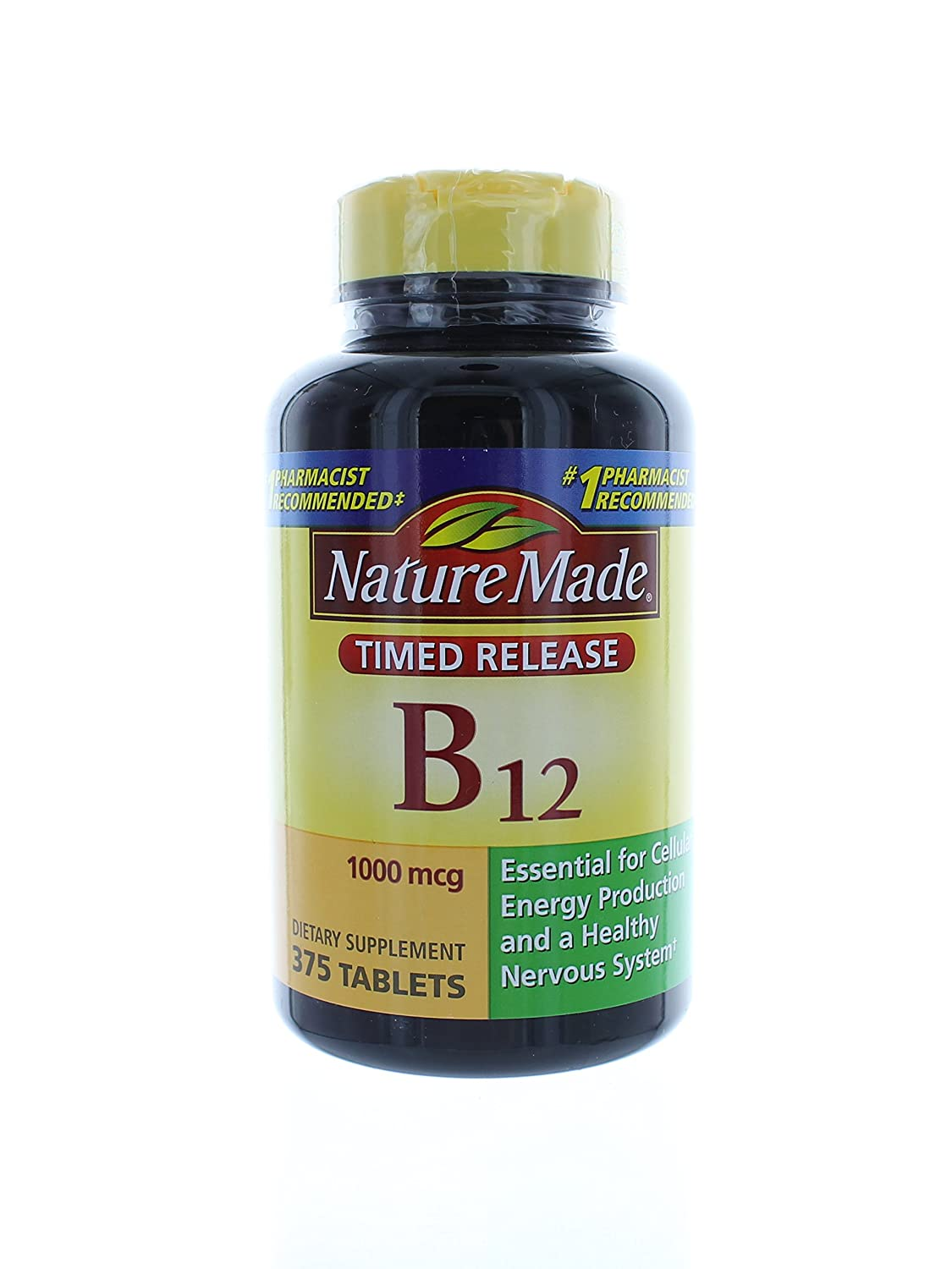 Nature Made Vitamin B12 1000 mcg 375 Timed Release Tablets