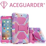 iPad Mini Case, ACEGUARDER Full Body Protective Premium Soft Silicone Cover with Screen Protector & Adjustable Kickstand for iPad Mini 1 2 3 (PinkCamo/Rose)