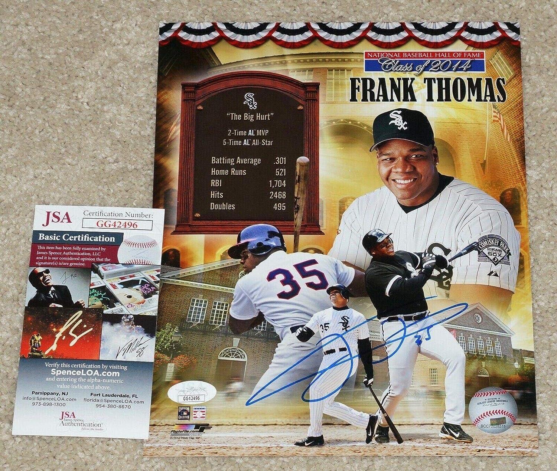 JSA Certified COA GG42496 Hall of Fame 8x10 Autographed Thomas Photograph Autographed MLB Photos