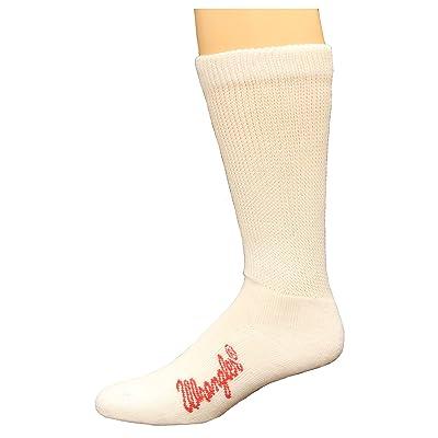 Wrangler Non-Binding Boot Socks, White, Lrg (M 9-13), 1 Pair at Men's Clothing store