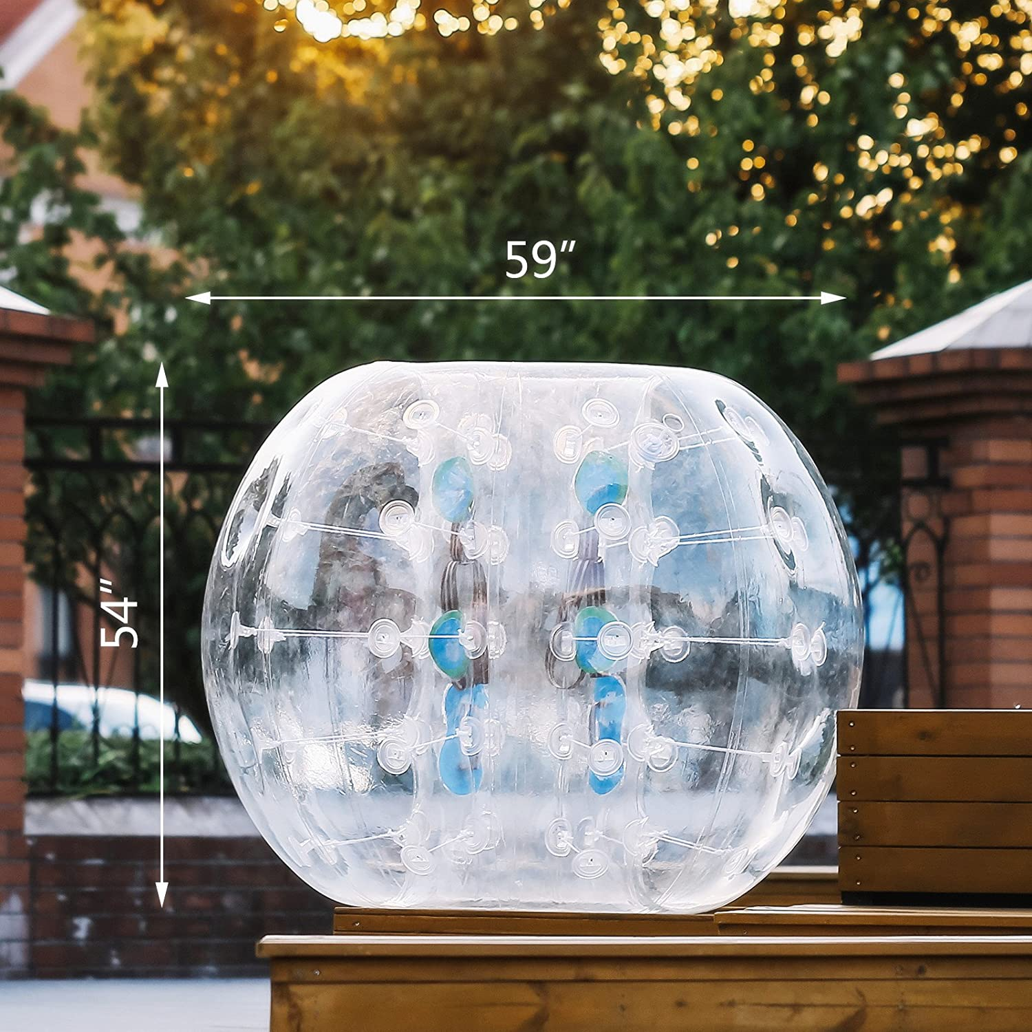 Popsport Inflatable Bumper Ball 5FT Bubble Soccer Ball 0.8mm Eco-Friendly PVC Zorb Ball Human Hamster Ball for Adults and Kids 5FT