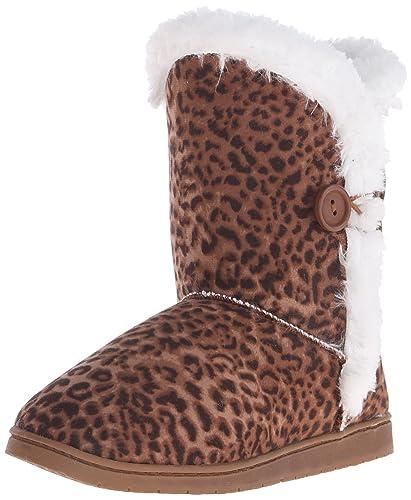 Women's 9-Inch Button Microfiber Winter Boot