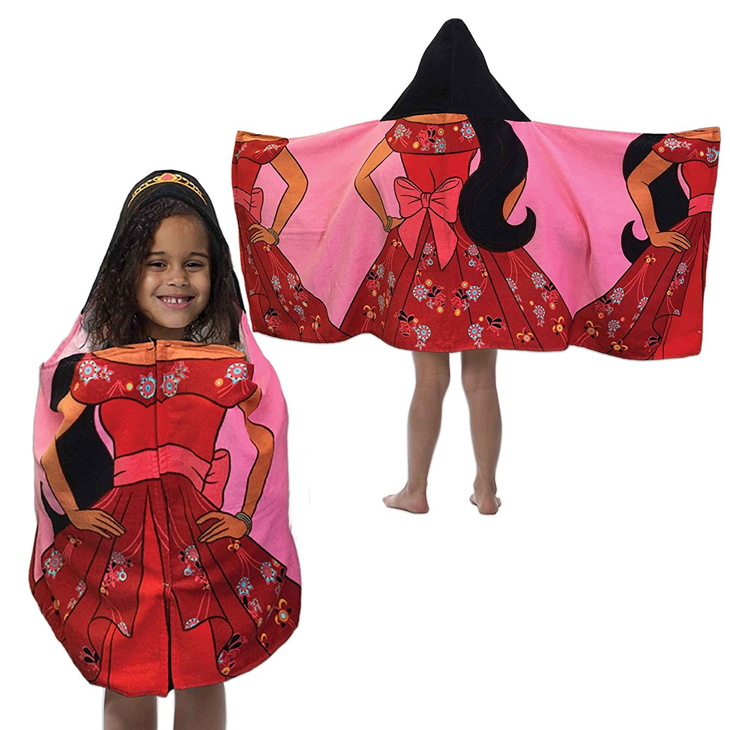 Disney Elena of Avalor - Hooded Bath Towel 100% Cotton, 22 in x 51 in (56 cm x 130 cm) by Jay Franco and Sons, Inc. (Image #1)