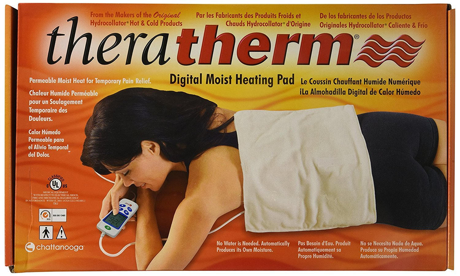 Chattanooga Theratherm Digital Moist Heating Pad, Large/Standard (14'' x 27'')