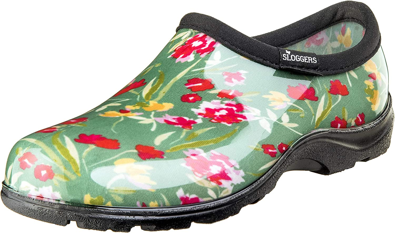 Sloggers 5119FCGN010 Wo's, Fresh Cut Green Sz 10 Waterproof Comfort Shoe