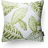 Phantoscope New Living Blue&Green Decorative Throw Pillow Case Leaves-BG 1 Piece