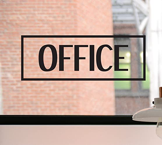 Office decal office sign office sticker home office business decal business