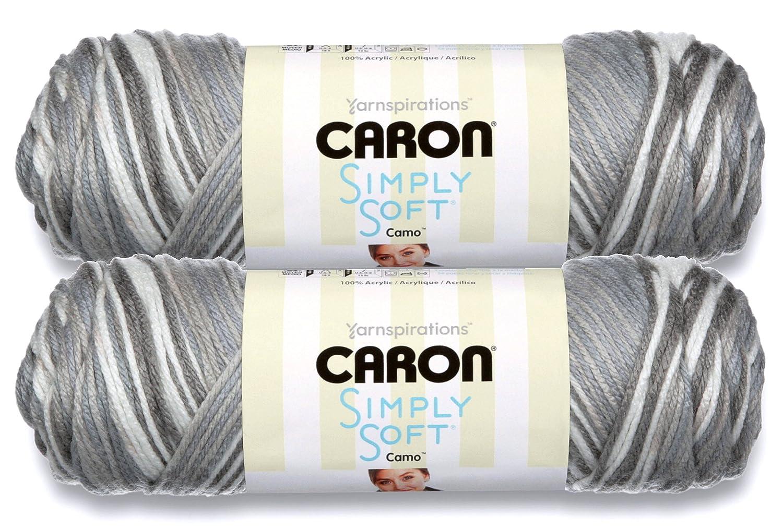 Skeins ~ 5 oz Central Park Caron Simply Soft Bulk Buy Stripes 100/% Acrylic Yarn 2-Pack
