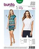 Haut uni BURDA SEWING PATTERN pour femmes, tailles 34-48, modèle 6540