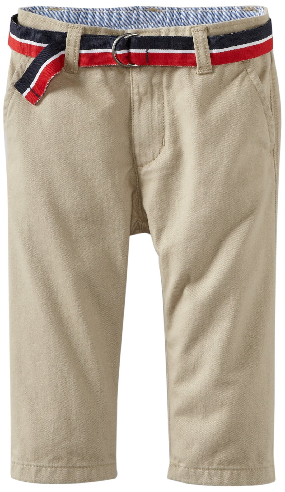 Tommy Hilfiger Baby Boys' Charlie Flat Front Pant, Travel Khaki, 18 Months