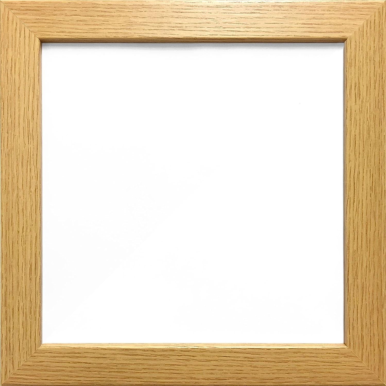 4X4 OAK COLOUR MODERN BOX FRAMES WOOD FINISH PHOTO PICTURE SQUARE FRAME FramesPlus
