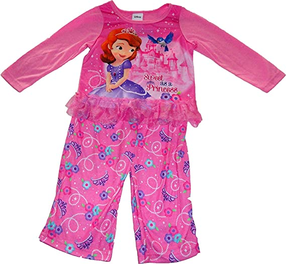 8546e42220 Amazon.com  Disney Sofia the First Little Girls Pajamas (2T-4T) (2T ...