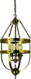 product image for Framburg 1016 AB 5-Light Hannover Dining Chandelier, Antique Brass