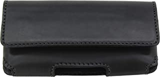 product image for Bullhide Belts Black Deluxe Heavy Duty Bullhide Leather Horizontal Cell Holster Case - Made in USA