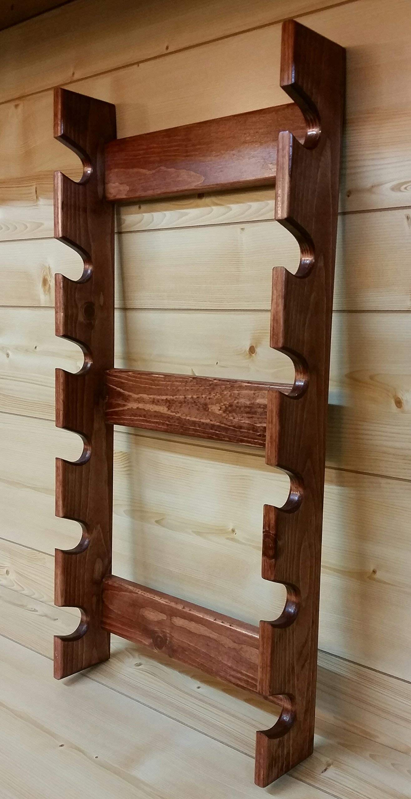 Rolling Pin Rack with Six Slots - Multiple Rolling Pin Rack - Rolling Pin Holder - Rolling Pin Storage - Rolling Pin Rack for 6 by Rusty Nail Custom Woodworking (Image #4)