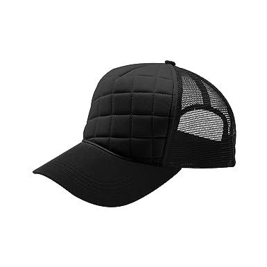 mg midget baseball caps unisex fashion quilted trucker cap black logo tf