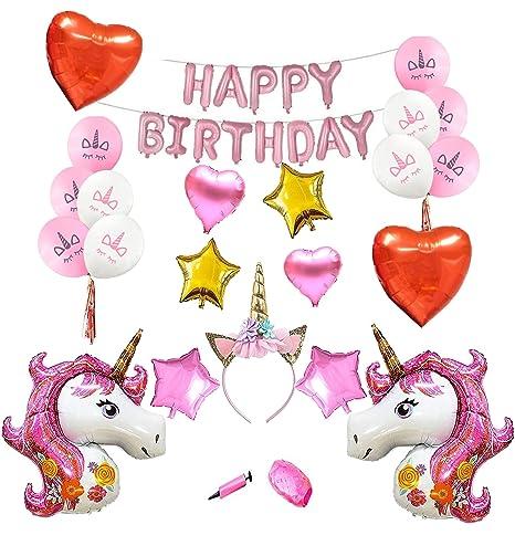 Amazoncom Pink Unicorn Party Supplies For Girls Birthday