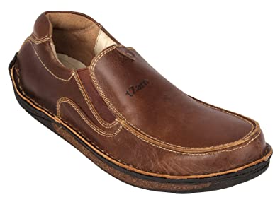 ebce6d9d179f tZaro Genuine Leather Stud Slipon Shoes  Buy Online at Low Prices in India  - Amazon.in