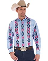 Wrangler Men's Checotah Multi Vertical Stripe Long Sleeve Shirt - Mc1222m