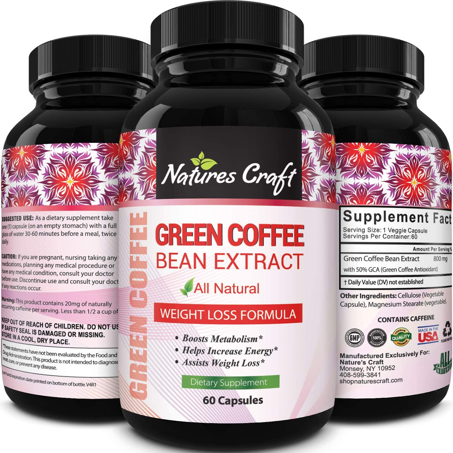 Amazon Com Pure Green Coffee Bean Extract And Standardized To 50