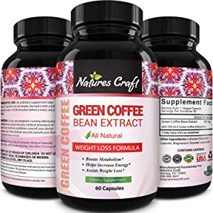 Amazon Com Pure Green Coffee Bean Extract And Standardized To 50 Chlorogenic Acid With Weight Loss Supplement For