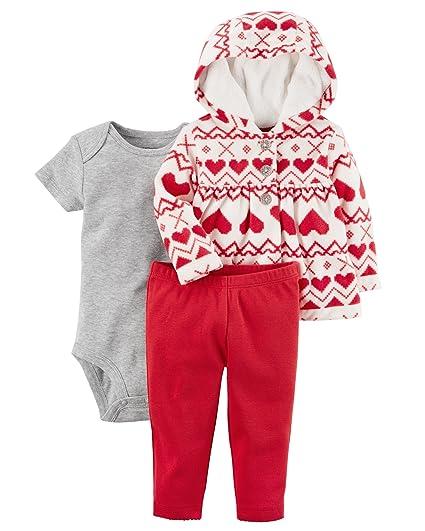87915f5d0 Amazon.com  Carter s Baby Girls  3 Piece Heart Print Little Jacket ...