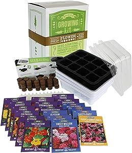 Annual Flower Garden Seed Starter Kit   Premium   18 Varieties of Flower Seeds for Planting: Poppy, Coneflower, Snapdragon, Viola, Shasta Daisy, Coleus, Cosmos, Zinnia, Calendula & More