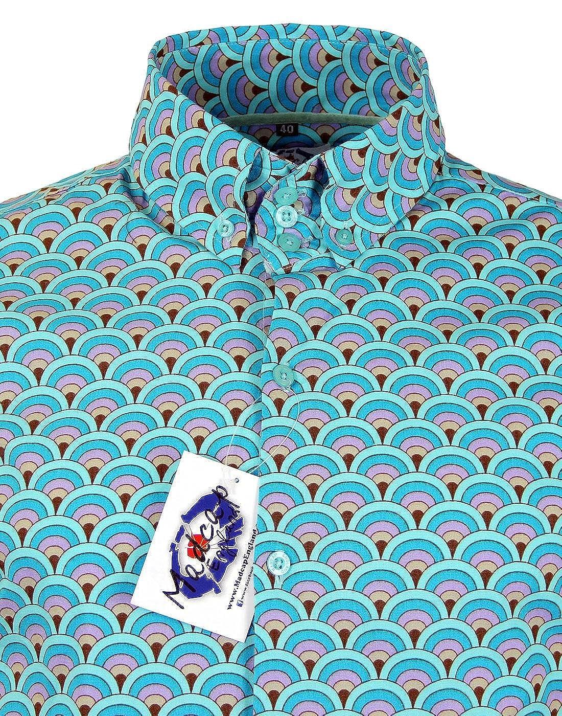 Madcap England - Camisa casual - con botones - para hombre azul ...