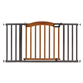 Charmant Summer Infant Decorative Wood U0026 Metal 5 Foot Pressure Mounted Gate,  Brown/Black