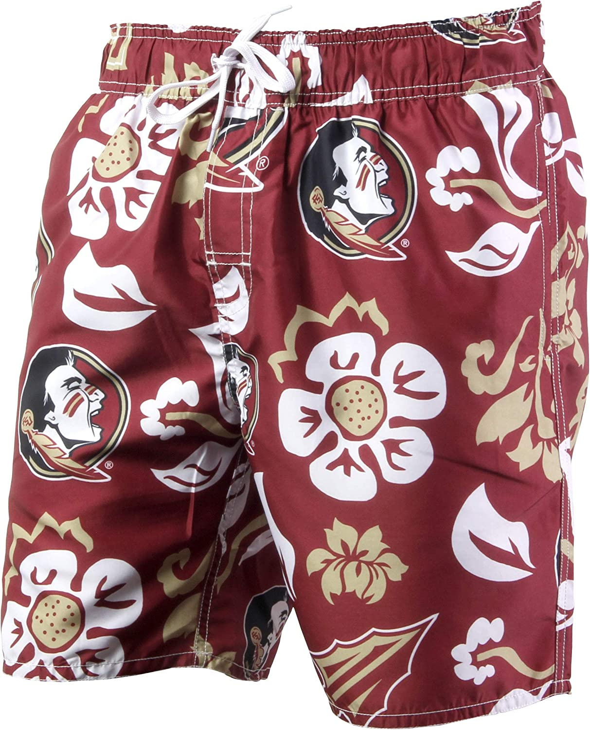 Wes and Willy Florida State Mens Swim Trunks