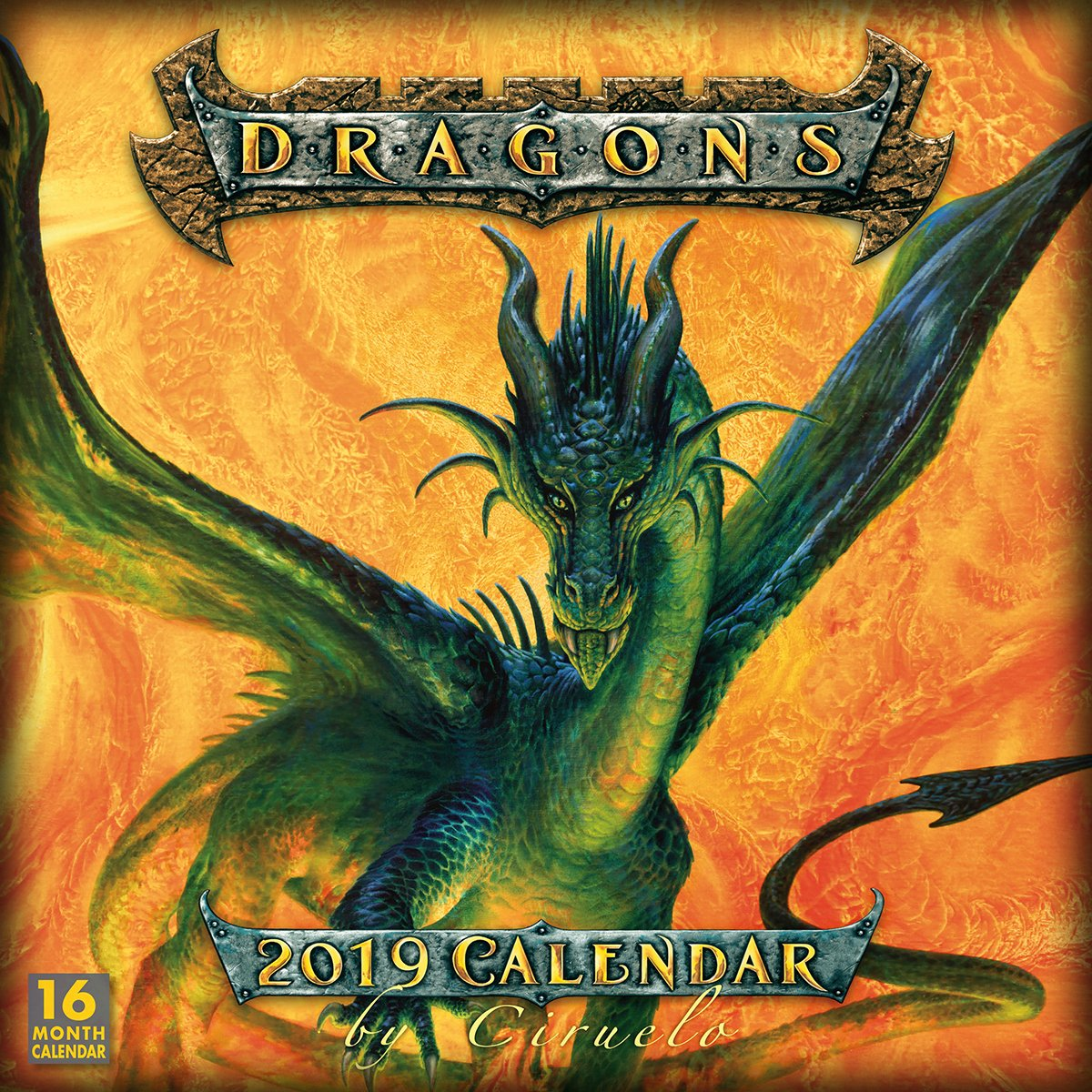 dragons by ciruelo 2019 wall calendar