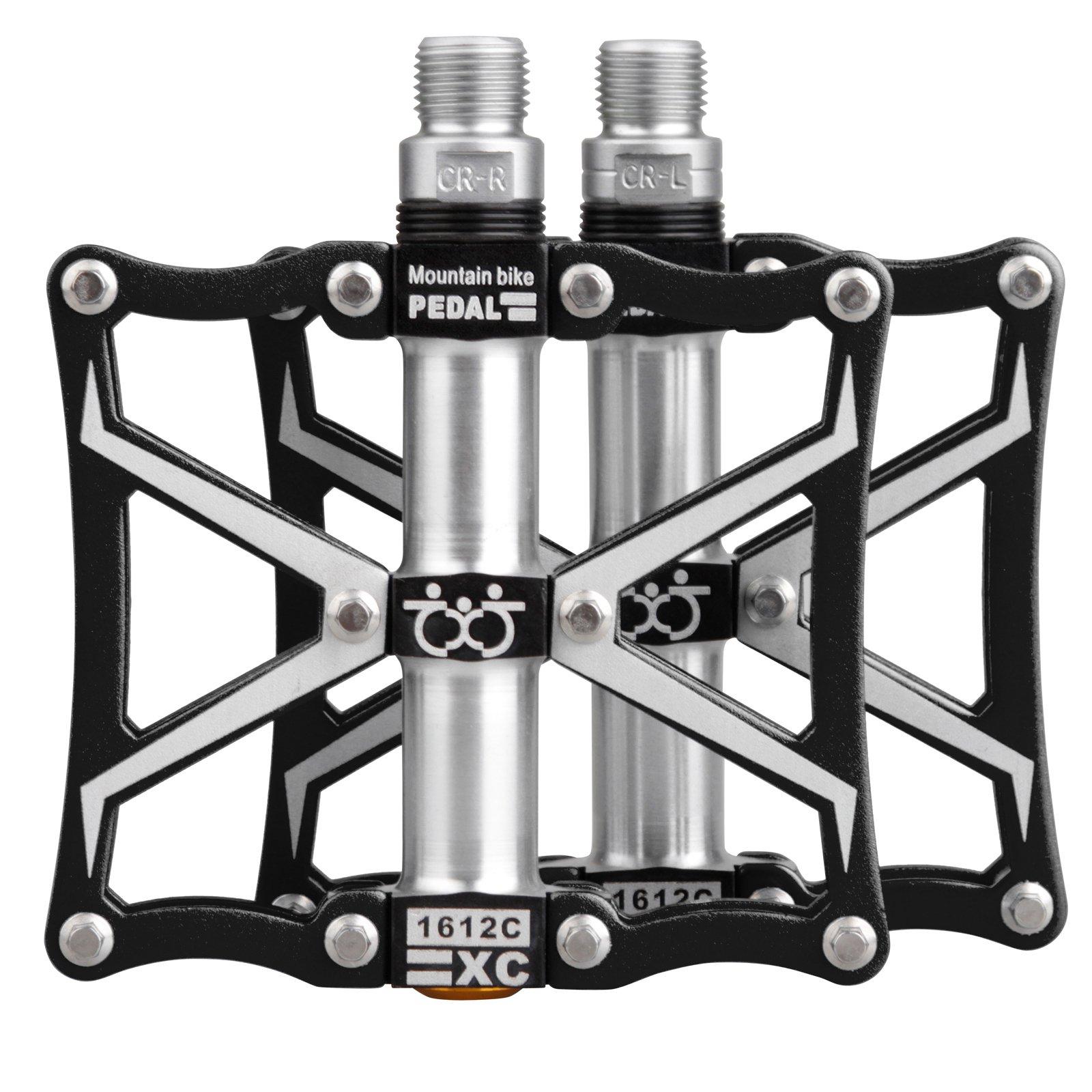 TXJ Mountain Bike Pedals Platform Bike Pedals Aluminum Alloy 9//16 CNC Ultra Sealed Bearing Bicycle Bike Pedals