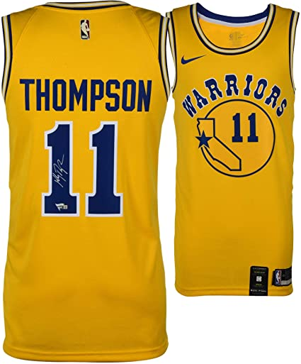 b37e8349ca7 Klay Thompson Golden State Warriors Autographed Gold Nike Hardwood Classic  Swingman Jersey - Fanatics Authentic Certified