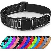 Joytale Reflective Dog Collar,12 Colors,Soft Neoprene Padded Breathable Nylon Pet Collar Adjustable for Small Medium…