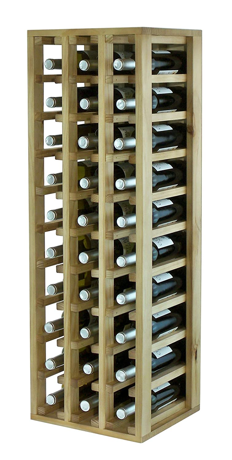 Expovinalia Special Wine Rack with 3 Modules and ability to Pack of 30, Wood, Rustic, 36 x 32 x 105 cm ex2033