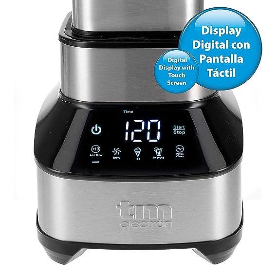 TM Electron TMPBA014 Batidora de Vaso de Tritan, 1600 W, 1.8 litros, Acero Inoxidable: Amazon.es: Hogar