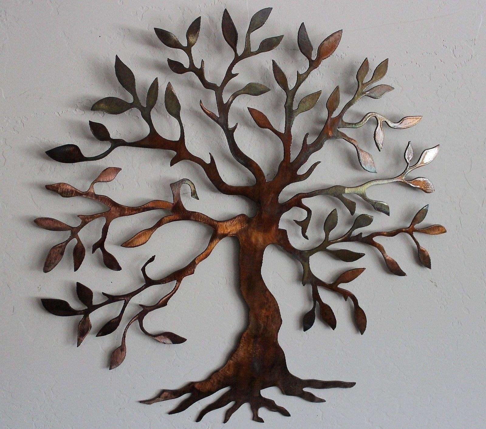 Olive Tree Metal Wall Art by HG Artworks
