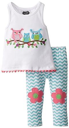 f5c9803ab4a Amazon.com  Mud Pie Baby Girls  Owl Tunic and Legging Set