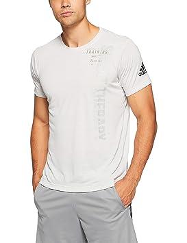 adidas Freelift Slogan T-Shirt à Manches Courtes pour Homme L Cloud White ec33a0414cc
