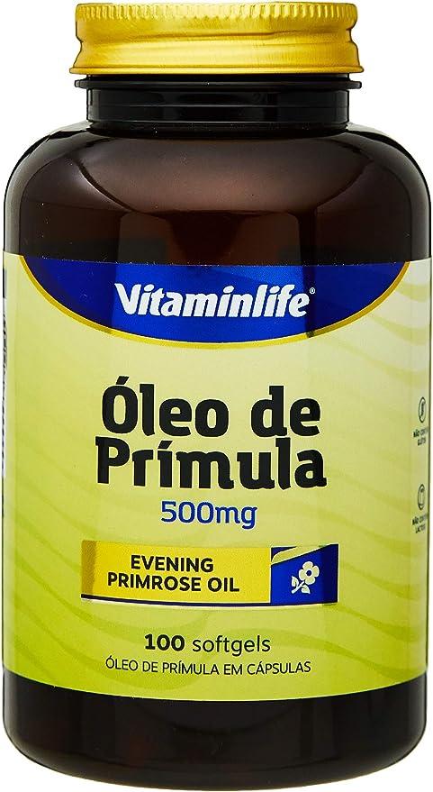 Evening Primrose Oil 500Mg Óleo de Prímula, VitaminLife, 120 Cápsulas