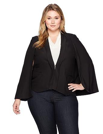 6084a9ccc84 Amazon.com  RACHEL Rachel Roy Women s Plus Size Tuxedo Cape  Clothing