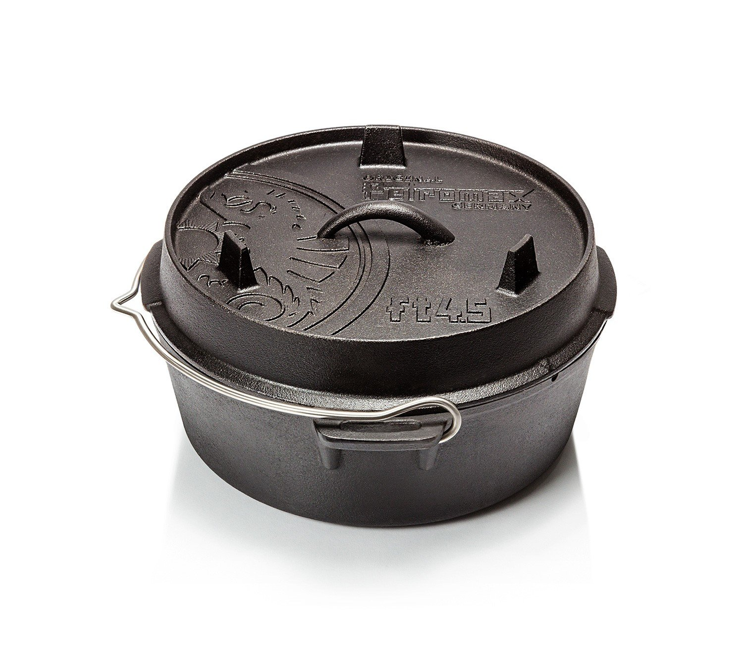 Petromax Cast Iron Dutch Oven with Flat Base - 3.7 Qt