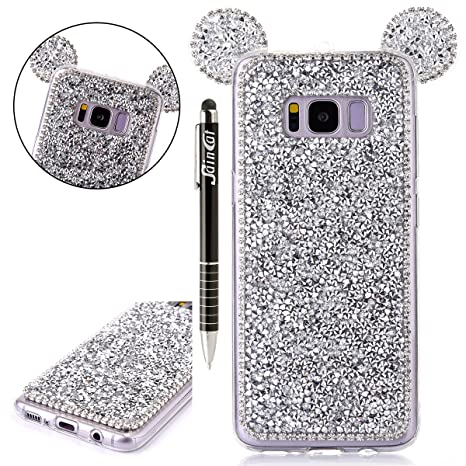 custodia cover per samsung galaxy s8plus custodia silicone glitter