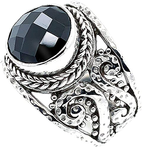 Silver Ring Bali Design Sterling 925 Hand Made Circles Size 6 7 8 9 10 11 12 13