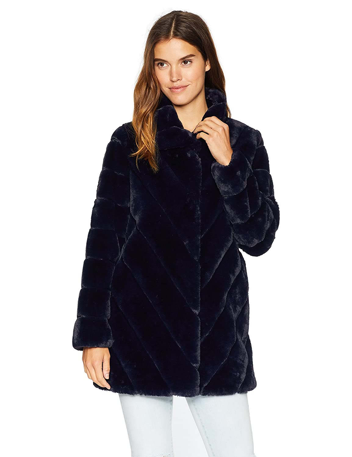 Nanette Lepore Women's Vegan Fur Coat