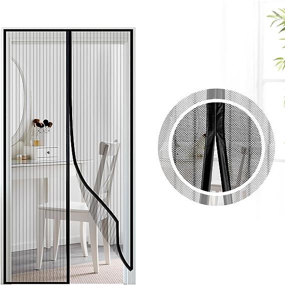 Samione Mosquitera Puerta magnetica, Fiberglass magnético Puerta de la Pantalla de Insectos, protección de Insectos Cortina magnética Mosca Cortina para Sala de Estar balcón, (100 * 220cm,Negro): Amazon.es: Hogar
