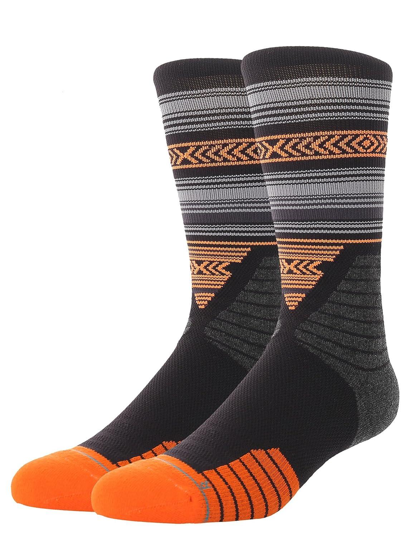 CelerSport Men/'s 3 Pack Basketball Hiking Athletic Sports Calf High Cushion Crew Socks