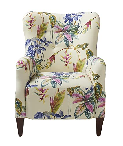 Exceptionnel Jennifer Taylor Home Paradise Collection Modern Floral Print Cotton Blend  Upholstered Accent Arm Chair With Wooden