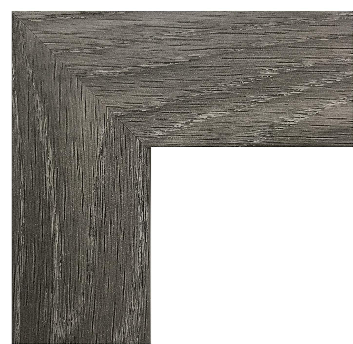 US Art Frames 18 by 24-Inch Picture Frame, Smooth Wrap Finish, 1.25-Inch Wide, Distressed Rustic Grey Barnwood (This is NOT Real Barnwood), Wood Composite MDF