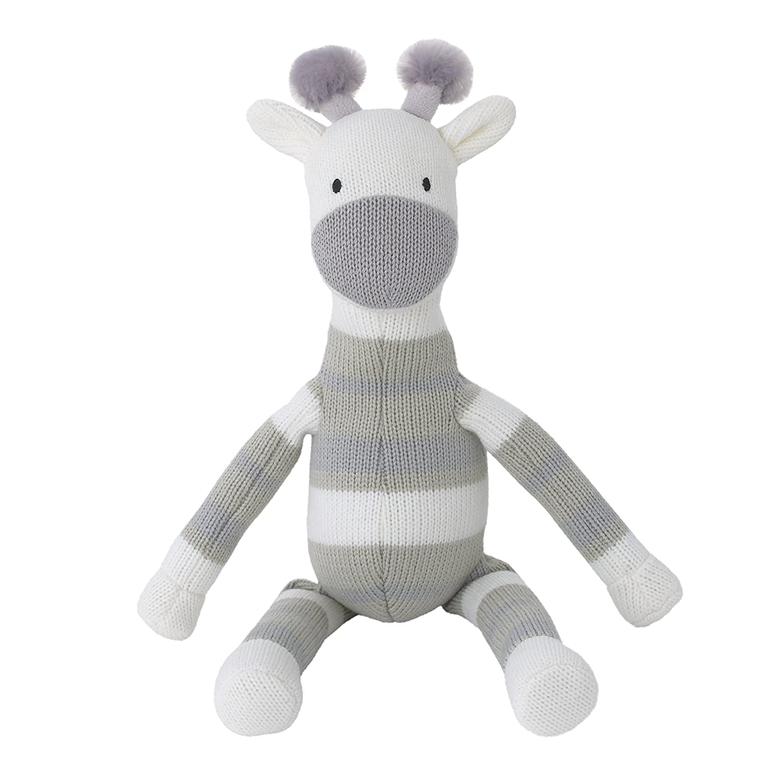Amazon Com Dwell Studio Safari Skies Knit Plush Gray White Giraffe